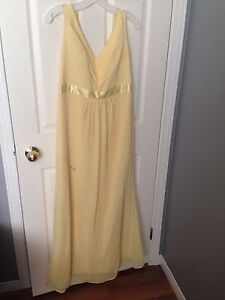 Yellow prom or bridesmaid dress