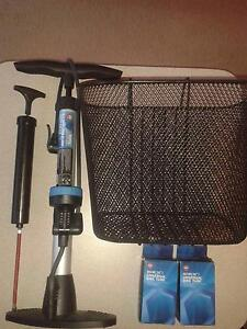 Bike accessories (Basket, Air pump and spare tires) Claremont Nedlands Area Preview