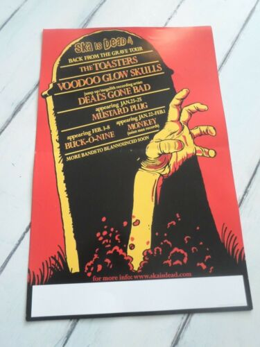 """SKA IS DEAD Concert Poster BACK FROM THE GRAVE TOUR TOASTER VOODOO 11""""x17"""""""