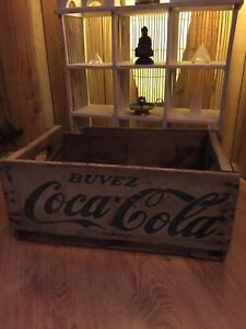 Antique 1950-1960's wood Coca Cola crate