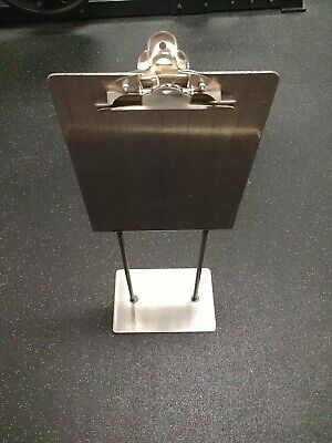 Dual Sided Metal Clipboard With Stand