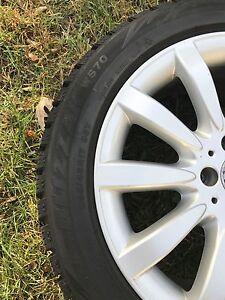 Mercedes Benz OEM wheels with Bridgestone blizzak ws70 Oakville / Halton Region Toronto (GTA) image 2