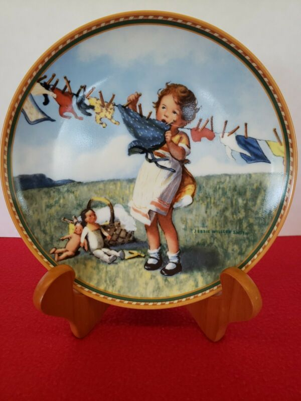 Wash Day For Dolly By Jessie Willcox Smith Collectors Plate. 1988.