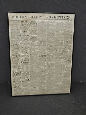 (Newspaper Boston Daily Advertiser PICTURE 6-26-1863 Print during the Civil War)