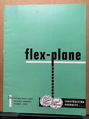 Vtg Flexible Road Joint Machine Co Brochure Flex Plane Heltzel Warren Oh