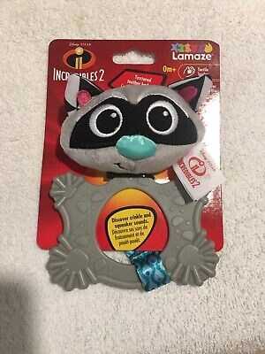 LAMAZE INCREDIBLES 2  TEXTURED TEETHER BODY , CRINKLE & SQUEAKER SOUNDS