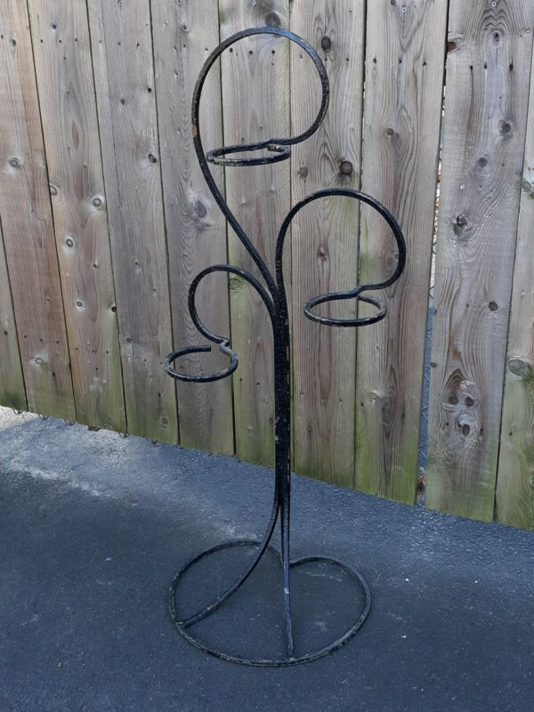 Art Deco Wrought Iron Garden Plant Stand