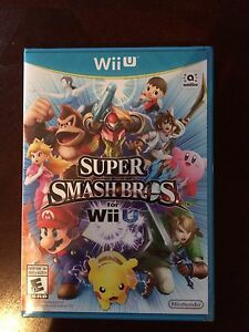 Wii U super smash bros. new in package.