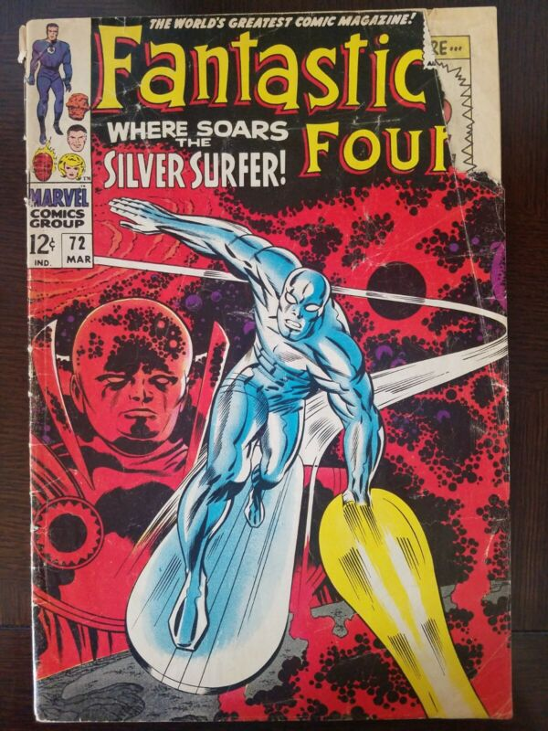 Marvel 1968 FANTASTIC FOUR No. 72 Silver Surfer Classic Kirby Cover reader FR/GD