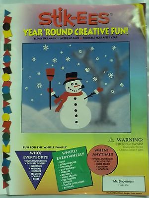 Christmas Decoration Clings Mr Snowman 19 inches tall Window Cling Reusable NEW