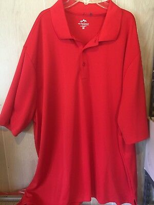 Mens Gorgeous Red Shirt Golf Knit Performance Tri Mountain Size 3Xl Euc