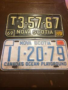 Old NS licence plates