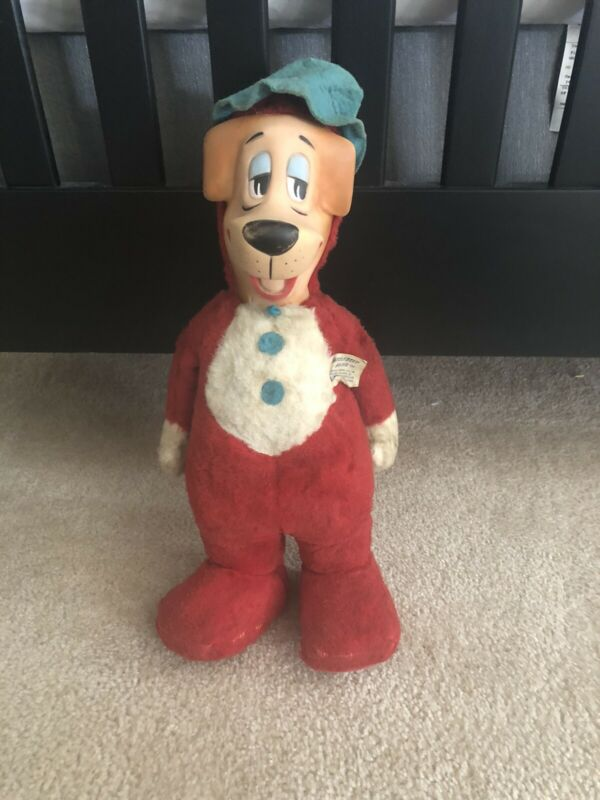 "Vintage 1959 Huckleberry Hound 17"" Plush Doll Knickerbocker Toy Company w/ tag"