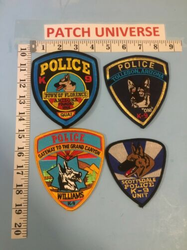 LOT OF 4  DIFFERENT ARIZONA K-9 SHOULDER PATCHES  G034