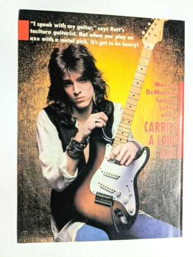 RATT / WARREN DEMARTINI / MAGAZINE FULL PAGE PINUP POSTER CLIPPING (1)