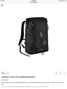 Jordan ovo toploader backpack