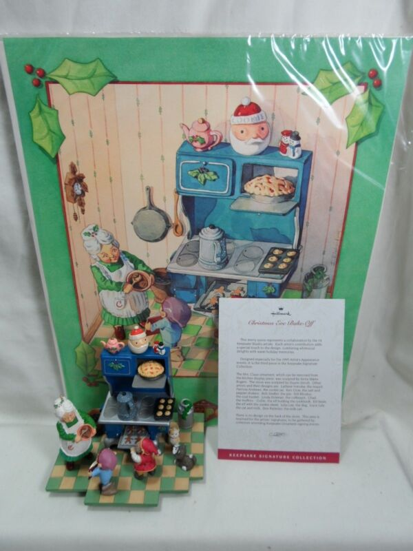 1995 HALLMARK Christmas Eve Bake-Off Signature Collection Signed Artists Poster