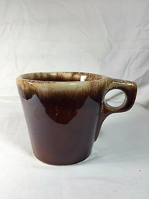Hull Brown Drip Pottery Dinnerware Vintage Oven Proof Shiny Coffee Mug Cup 3.5""