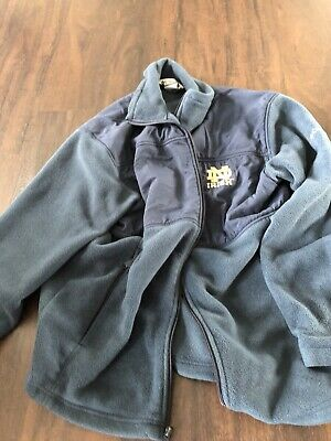 Fleece Notre Dame Irish Jacket - Columbia Notre Dame Fighting Irish Fleece Jacket Full Zip Mens Large