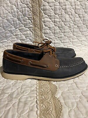 🎼Clarks Collection Boat Shoes Loafers Men's Size US 8.5 M Leather Slip On GUC