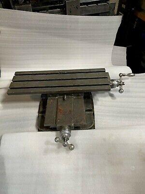 Adjustable Bridgeport Milling Table 8 X 24
