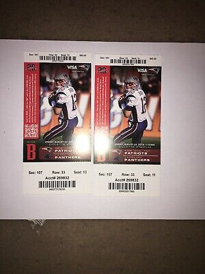 Aug 22, 2014 New England Patriots & Carolina Panthers 2 Full Ticket Pre Season