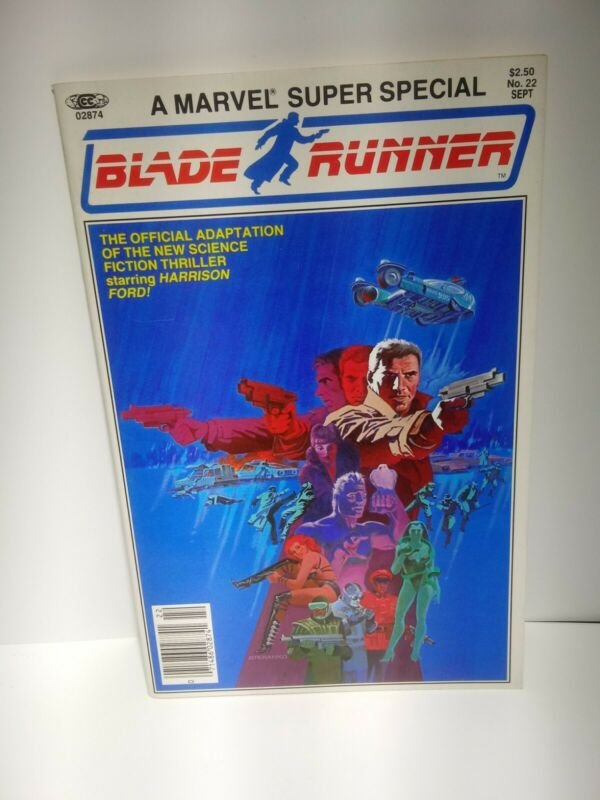 Marvel Super Special Blade-Runner Comic #22 Adaption Harrison Ford !