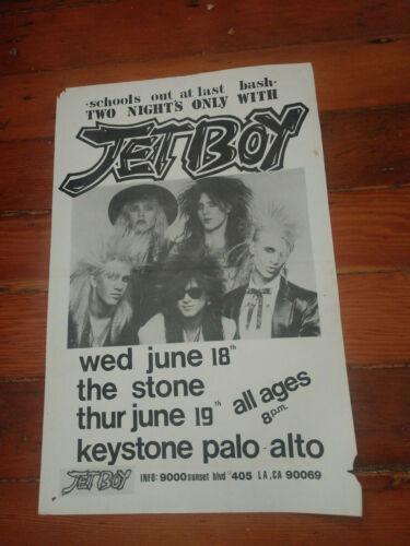Jetboy Lot of 24 Vintage Gig Flyers + More Jet Boy Glam Hairband Signed Promo
