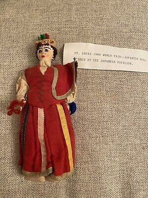 Rare 1904 Worlds Fair Expo Handmade Doll Purchased At The Japanese Pavilion