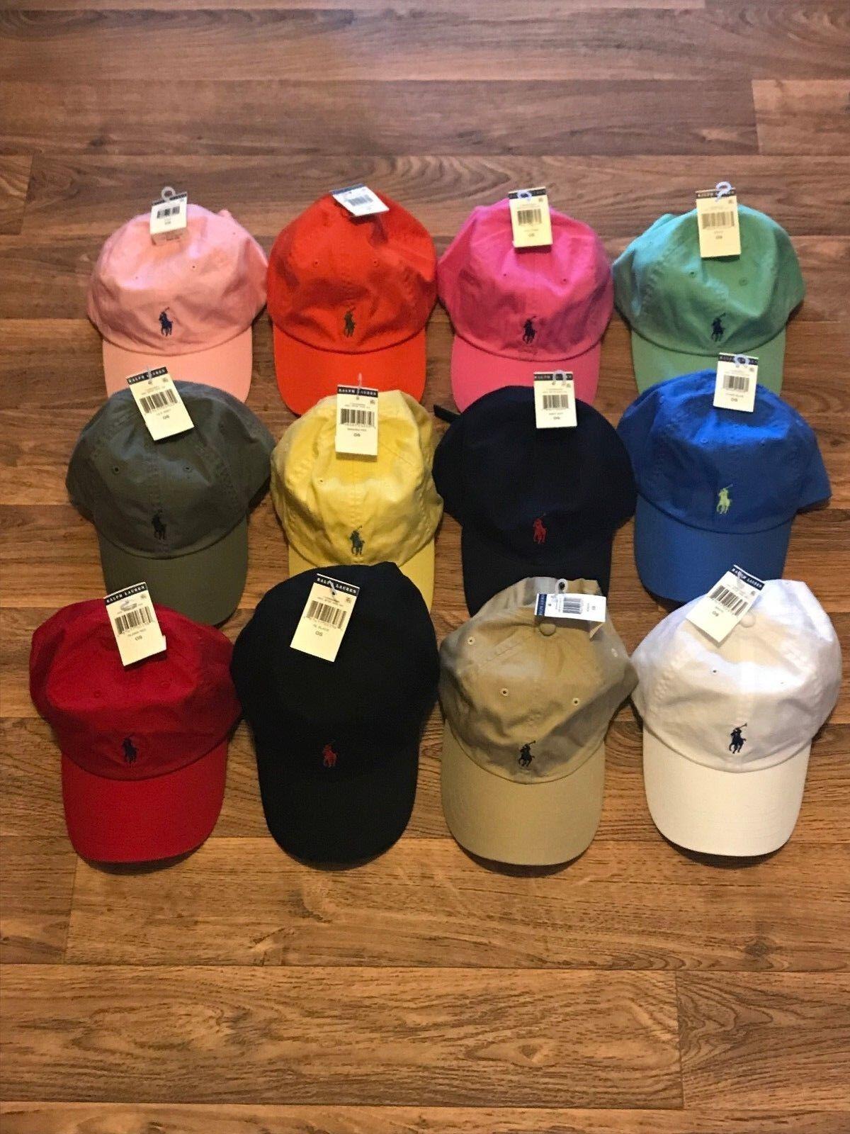 Головной убор для мужчины POLO RALPH LAUREN BASEBALL CAP HATS CLASSIC PONY  LOGO ONE SIZE ADJUSTABLE NWT - 282924087885 - купить на eBay.com (США) с ... a37425e6a880