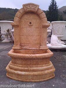 Fontana a muro in cemento da giardino esterno in marmo - Fontane da giardino ebay ...