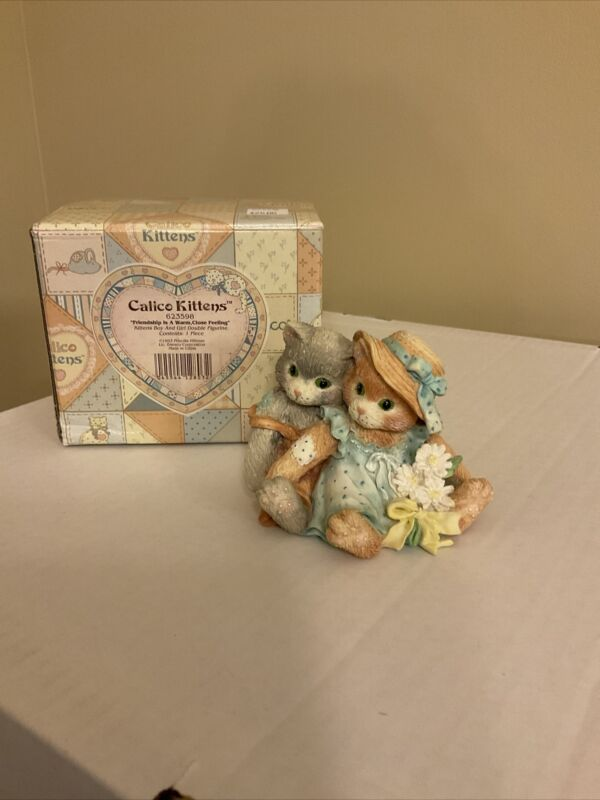 "1993 CALICO KITTENS Figurine: ""Friendship Is A Warm, Close Feeling"" #623598"