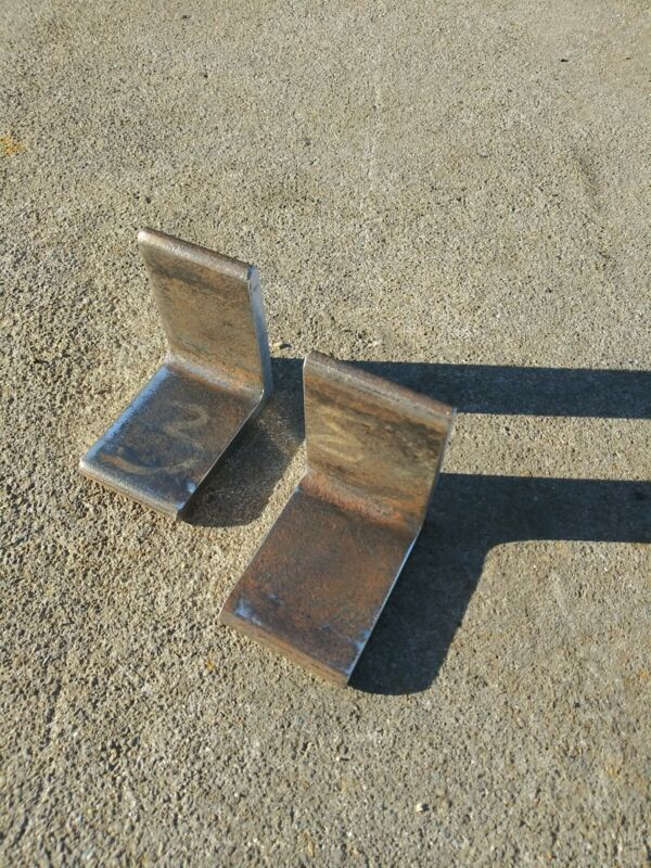 "Steel Angle Iron 3"" X 3"" Heavy Duty Bracing Bracket Shelf 5/16"" Thick lot of 2"