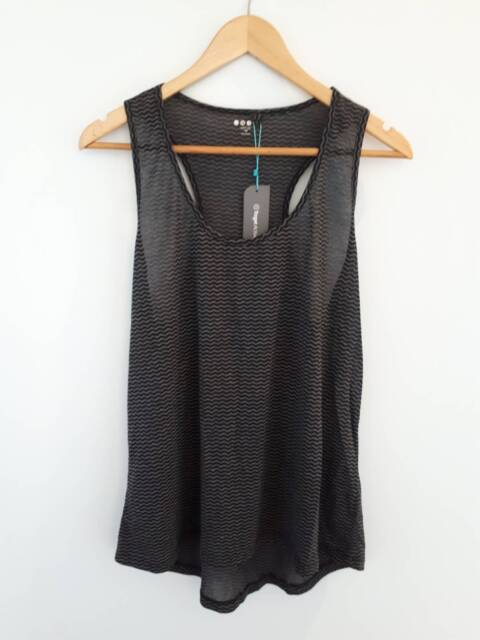 4eff66ce6e Target Burnout Tank Top, Black and Grey Print, Size 16 | Tops ...
