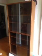 Wood display cabinet with glass sliding doors North Narrabeen Pittwater Area Preview