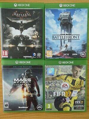 Xbox one bundle -Batman Arkham Knight/ Star Wars Battlefront/ Mass Effect/ Fifa