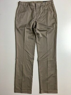 Bonobos Wednesday Khaki chino Pants Mens sz 34 (35x35) taupe brown straight leg