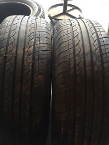 Two tires like new tread 195/75r14 $80text 902 223 2108