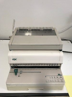 Gbc 111pm-3 Paper Punch With Comb Die And Manual Comb Binder Model Hb24 14