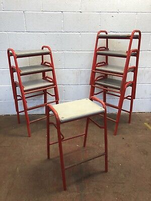 Vintage Red Frame Stool