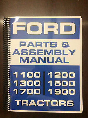 Ford 1100 1200 1300 1500 1700 1900 Parts Manual Assembly Manual Exploded Diagram