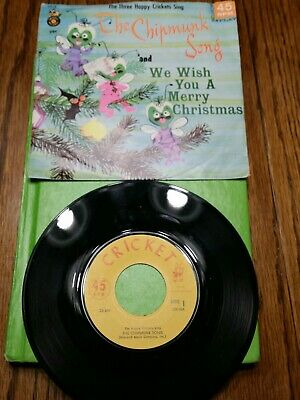 The Chipmunk Song/We Wish You a Merry Christmas-Cricket Records-45rpm--CX18 A/B ()