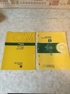 2 John Deere Operators Manuals 200 Stack Mover 9400 Series Grain Drill Hitchs