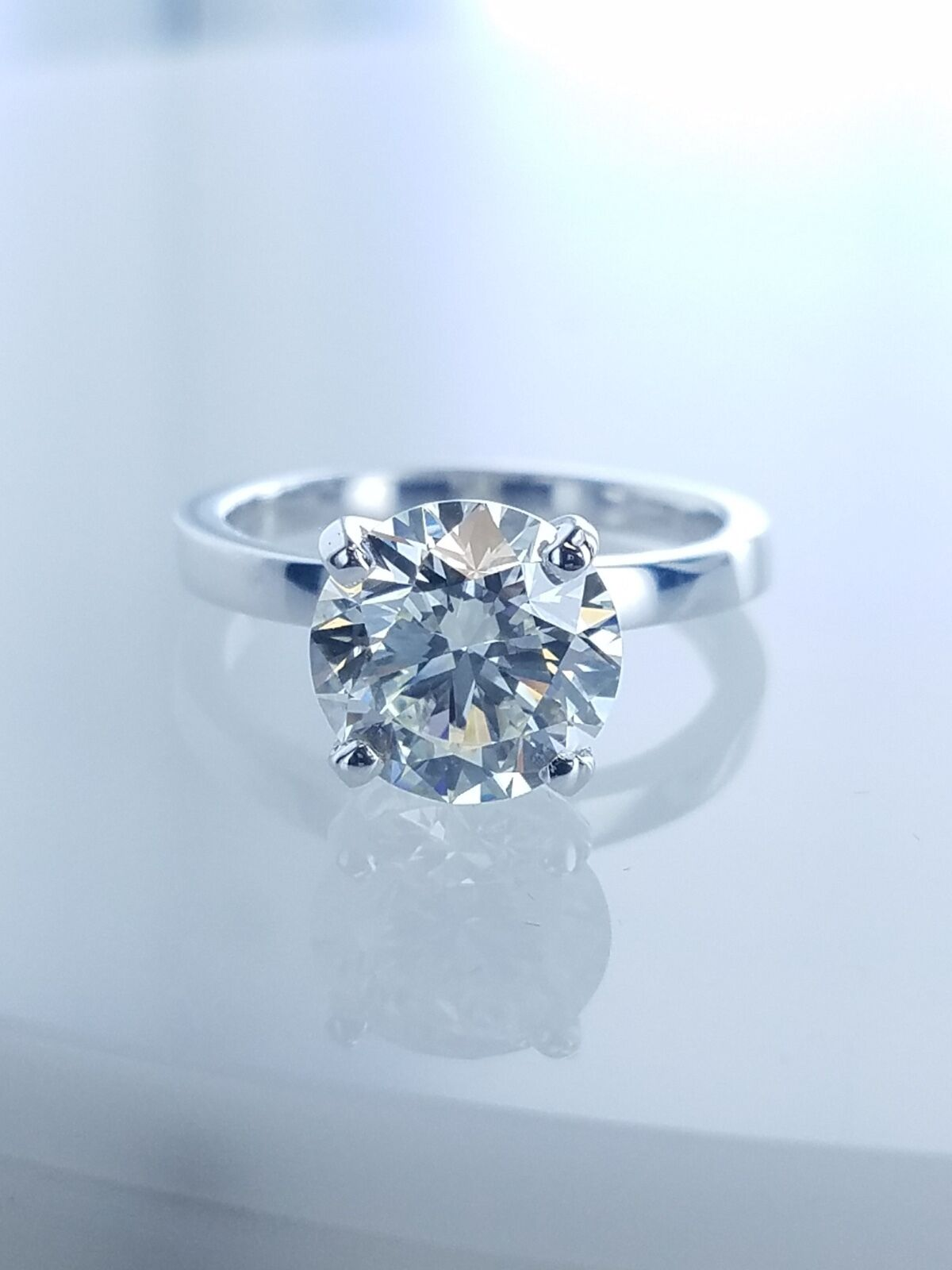 2.72 CT Solitaire Diamond Engagement Ring GIA Certified M-SI1 Ladies Round Cut  1