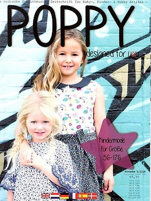 Poppy Designed for You Magazine #10 1/2018 fashion sewing children ](Kids Fashion Magazines)
