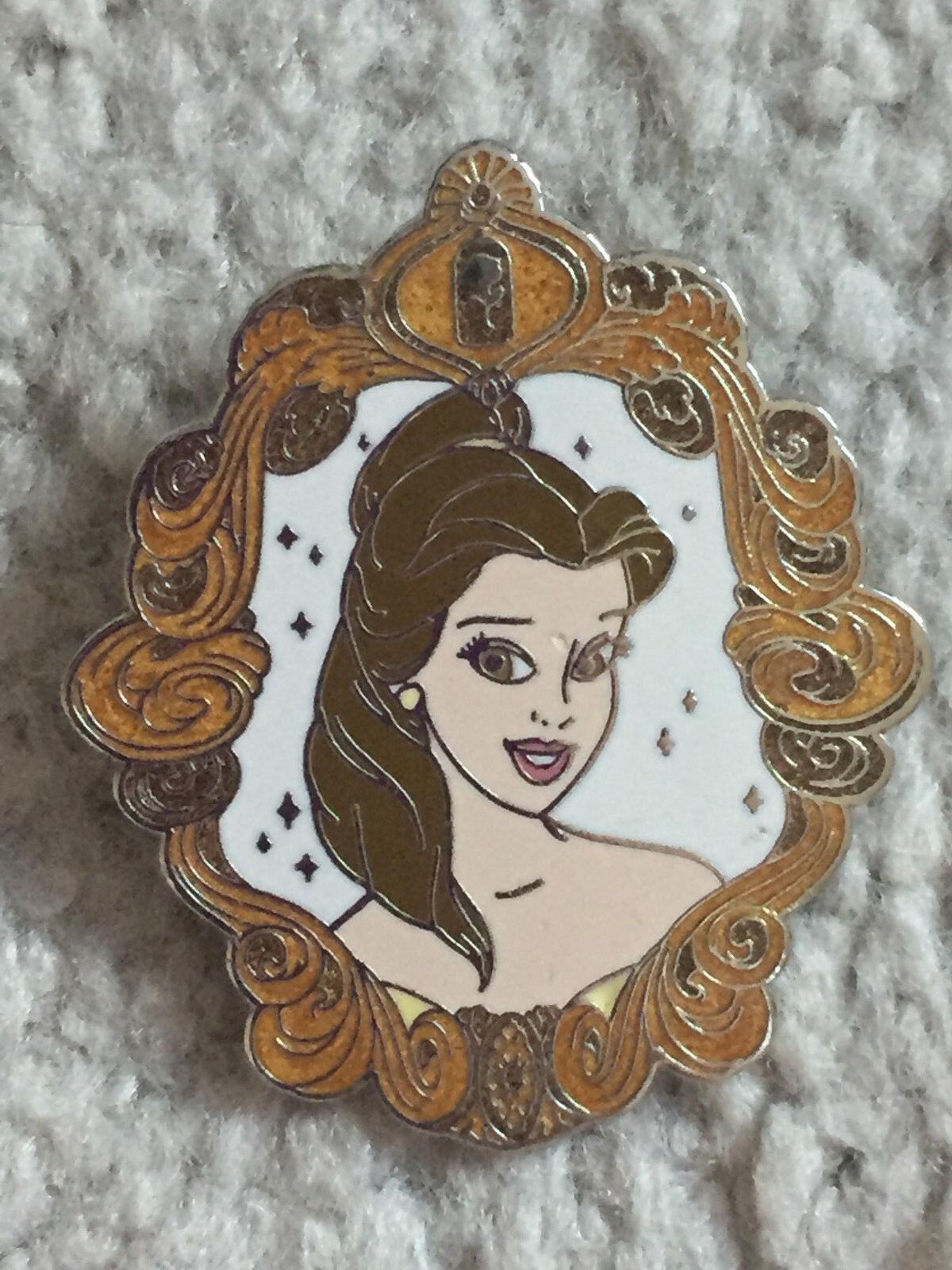Disney Mall - Princess Portrait Beauty Beast Belle Pin Silver Artist Proof AP