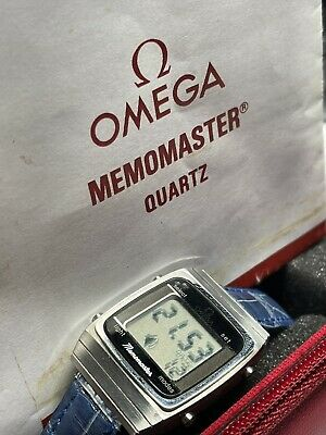 Rare Omega Memomaster Cal.1637 LCD Watch, w/manual and Hardcase