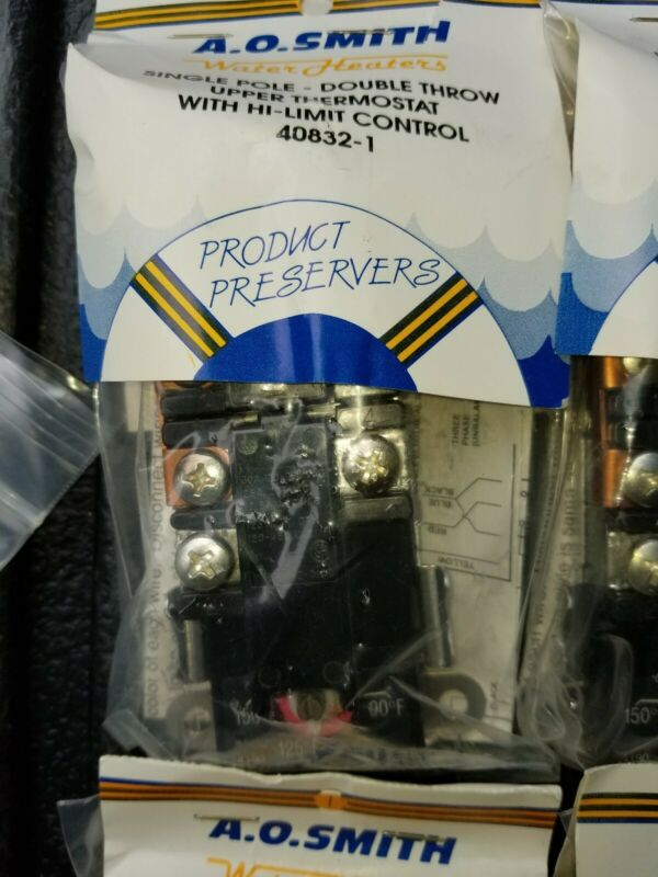 A.O. Smith Water Heater SPDT, Upper Thermostat #40832-1. Free USPS shipping.