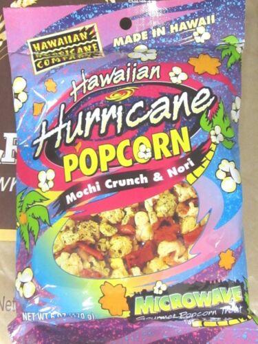 4 Bag  HAWAIIAN HURRICANE POPCORN MOCHI CRUNCH & NORI MICROWAVE 6 OZ