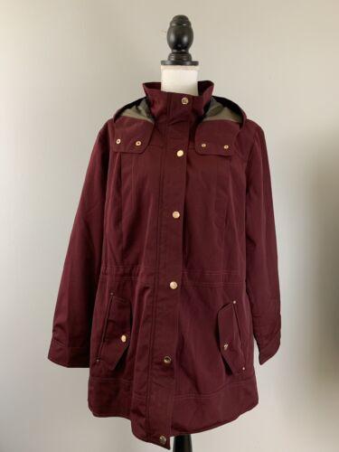 LIZ CLAIBORNE NWT $180 Hooded Water Resistant Anorak Jacket